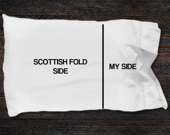 Scottish Fold cat pillow case - Scottish Fold cat gifts - Scottish Fold cat side- My Side