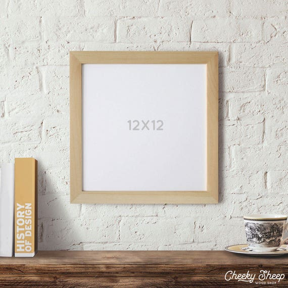 12x12 Picture Frame Natural Wood Frame Square Frame