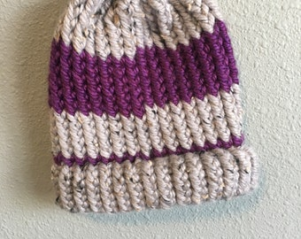 Warm, and cozy baby hat.