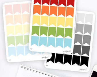 XL Flag Stickers | Functional Stickers | Rainbow Stickers | Page Flags | Erin Condren Life Planner Stickers | Bullet Journal Stickers