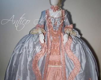 ROBE a la FRANCAISE-  historical dress, 18 Century  French Court Dress - abito settecentesco donna XVIII sec