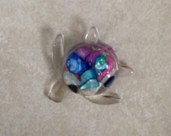 Sea turtle suncatchers and magnets - sea glass and sea shells