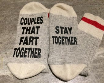 Couples That Far Together ... Stay Together (Socks)