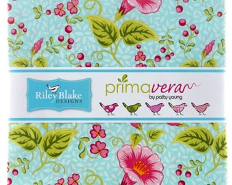 "Riley Blake - Primavera 10"" Stackers/Layer Cake by Patty Young - 42, 10"" x 10"" Precut Fabric Squares"