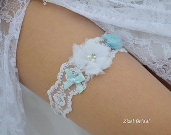 Bridal Garter, Wedding Garter, Lace Garter Set, White Garter, Wedding Garter Blue, White Garter Set, Lace Garter, White Lace Garter, Garter
