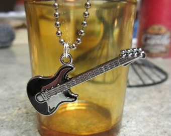Bass Guitar Pendant and Chain