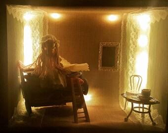 "Box window ""Recreation"". Night light - Princess on the pea"