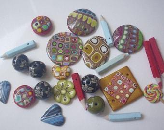 Set of assorted beads handmade - handmade creation
