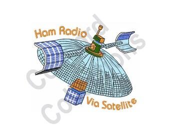 Ham Radio Satellite - Machine Embroidery Design