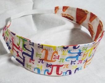 Pi - Pie Reversible Cloth Headband (Pi-Day March 14th!)