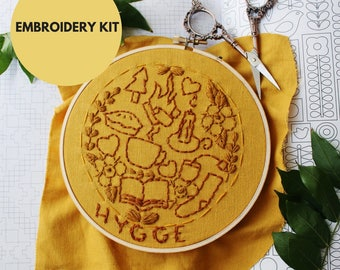 Modern Hand Embroidery Kit Pattern | Beginner Embroidery Hoop Art Pattern | DIY Hand Embroidery | Modern Embroidery  | Hygge Home Decor