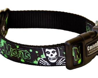 "Misfits ""Splatter Fiend"" Official Dog Collars - 1"" Width"