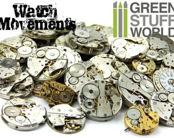 Vintage Watch MOVEMENTS 85gr. Steampunk (8-12 units) - sizes 1.8-2.5cm