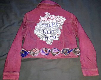 Little girls one-of-a-kind cropped 5T jacket in raspberry/dusty rose