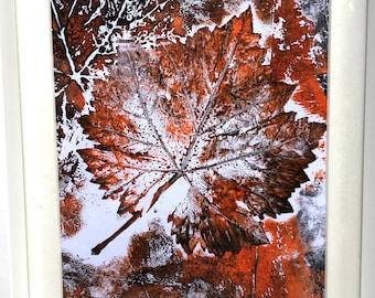 Vine Leaf Mono Print