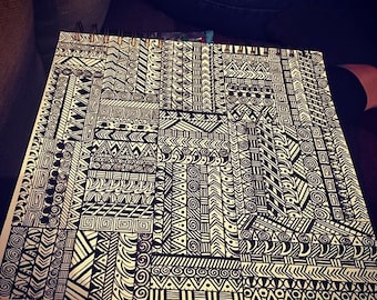Black and White Aztec inspired Design