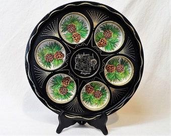 ARIZONA Souvenir Metal-Tin Decorative Serving Tray-Tumbler-Drink Tray-Holds 6 Glasses- Vintage Travel Memorabilia-Orphaned Treasure-X032018G