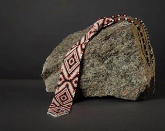 Ukrainian Tie beaded Ukrainian Ornament Necktie women's Necktie