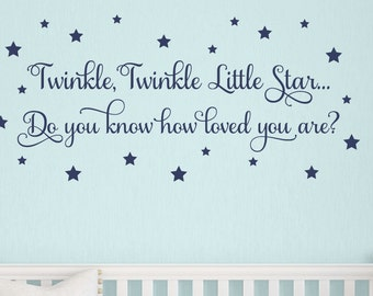Twinkle Twinkle Little Star Wall Decal, Nursery Wall Decal, Baby Wall Decals, Wall Decal for Crib, Childrens Wall Decals