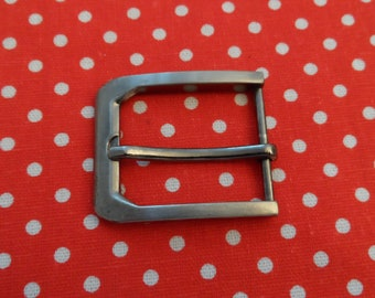good quality rectangle silver antique belt buckle