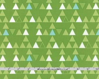 Aqua & Green Triangle Fabric, Moda Color Theory, V and Co, 10832 13, Triangle Quilt Fabric, Geometric Green Fabric, Cotton