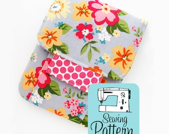 Mending Kit PDF Sewing Pattern | Intermediate sewing project tutorial to make a padded pouch to use as a sewing kit or for other storage.