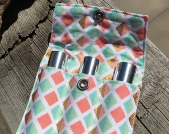 Essential Oil Roller Pouch, for 10ml oil rollers, Essential Oil Bag