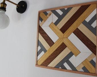 WOOD WALL ART, Mosaic 40x40 Home Decor