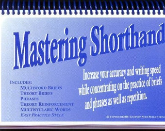 Mastering Machine Shorthand - Court Reporting LIT Material for Accuracy - Briefs, phrases, squeezes, multisyllabic WITH Free Teacher Card