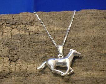 Horse Necklace, Silver, Horse Pendant, Pony Necklace, Handmade, Horse Jewellery, Pony Jewellery, Animal Jewellery, Pony,  Horse Gifts.