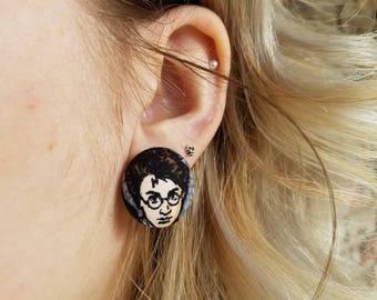 Harry potter vintage style earrings