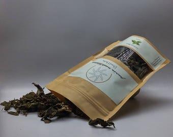 Basil Genovaise dried leaves, Basil tea, Culinary herbs, dried herbs, Mediterranean herbs, Bath herbs, Aromatherapy herbs, organic herbs.