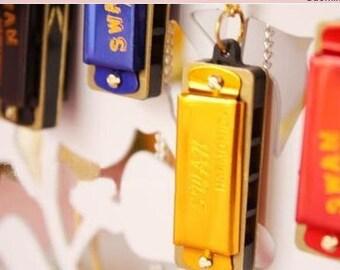 Bulksale-Amazing-20 pcs for you-harmonica pendants-can be played music-miniature-FZ106