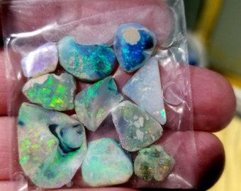 Australian Lightning Ridge black opal rubs,  40 carats  Money Maker
