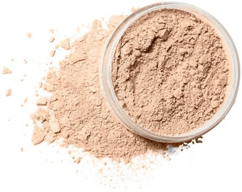 FAIRLY LIGHT Organic Mineral Foundation | Vegan Makeup Powder |  Acne Safe-Oily Skin  | Cruelty Free | 10 Gram/30 Gram Sizes