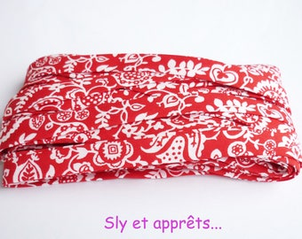 red flowers liberty fabric 50 cm white 10mm