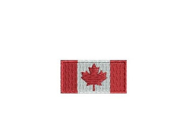 flag of canada machine embroidery design