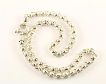 Vintage Rolo Chain Design Necklace 925 Sterling Silver NC 1556