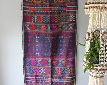 Vintage India Textile Art Wall Hanging Table Runner