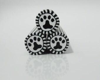 Polymer Clay Paw Print Cane, Millefiori