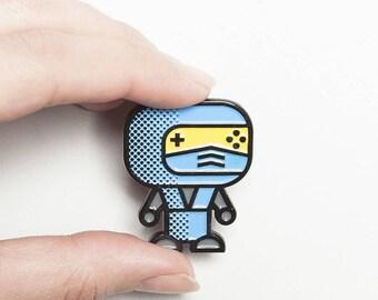 POPArt Pin – Sub Zero – Mortal Kombat –  Unique Gaming Gift Idea - SubZero- MortalKombat- SubZero Collectible - Mortal Kombat Collectible
