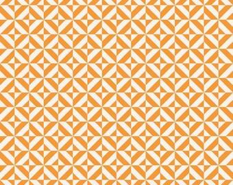 Fun and Games by Lori Whitlock for Riley Blake Designs Orange Geometric, 1/2  YARD
