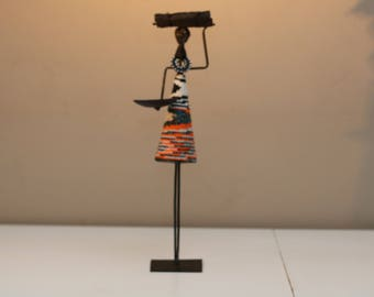 Maasai Woman Candle Holder