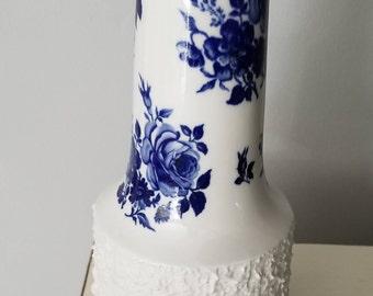 Blue and White Vase - Porzellankultur Residenz Hochst Germany Porcelain -H & G, Bavaria Germany Heinrich