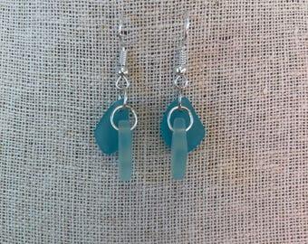 Shades of the Sea: Sea Glass Earrings