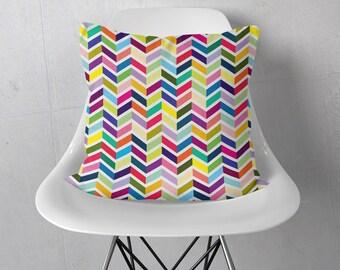 Decorative Throw Pillows 18x18 | Chevron Throw Pillow | Chevron Pillow Cover | Herringbone Throw Pillow | Herringbone Pillow Cover