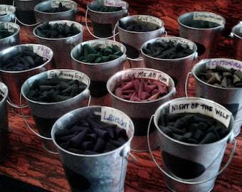 100 ASSORTED INCENSE CONES- 5 each of 20 scents plus 5 free bonus cones!