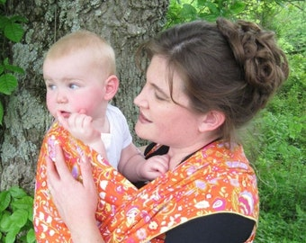 SALE Woven Baby Wrap Linen Blend, baby carrier, baby wrap - DVD included