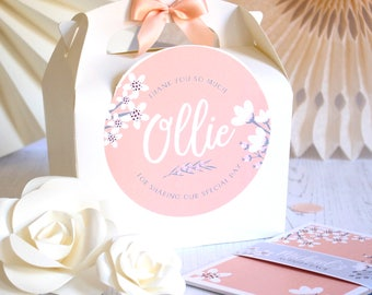 Personalised Childrens Wedding Activity Box & Puzzle Pack Favour   BLOSSOM    A6 Polka Dot Bold Book with Pen