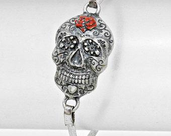 Day of the Dead Skull Hook Bracelet